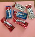 Air Heads red, blue, and white candy