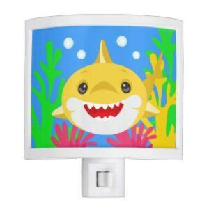 yellow baby shark night light
