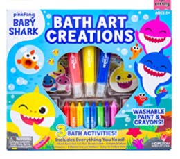 Baby Shark Bath Toys Review - Bath Art Creations